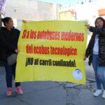 PROTESTAN CONTRA LA CONSTRCCIÓN DE LA RUTA TRONCAL EN LA 16 DE SEPTIEMBRE